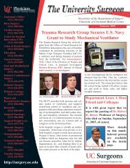 Trauma Research Group Secures U.S. Navy Grant to Study ...
