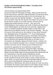 Predigt zu Kirchweih Bergkirche Seiffen 7. November 2010 Die ...