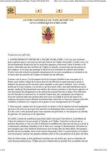 Lettre pastorale aux cathol... - Le Nouvel Observateur