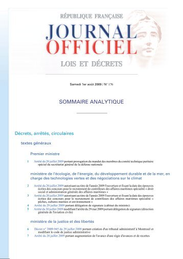 Journal officiel - Le Nouvel Observateur