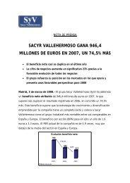 sacyr vallehermoso gana 946,4 millones de euros en 2007, un 74,5 ...