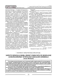 Aspecte serviciului mobil urgent consultativ de neurologie şi ...