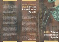 2012 Offene Lutherkirche Apolda 2012 Offene Lutherkirche Apolda