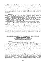 Cefaleea cervicogenă (cc) şi unele aspecte etiopatogenice