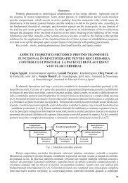 Aspecte teoretico-metodice privind transferul funcţional în ...