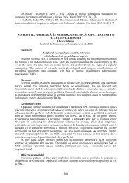 Neuropatia periferică în scleroza multiplă: aspecte clinice şi ...