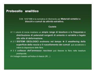 Protocollo analitico - Ordine Regionale dei Geologi della Liguria