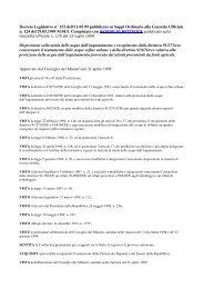 D. Leg.vo 11.maggio 1999 n° 152 - Ordine Regionale dei Geologi ...