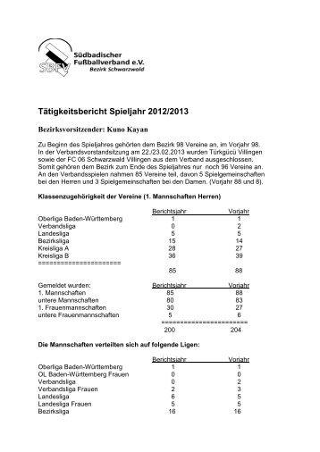 Bezirk Schwarzwald - Schwarzwald - SBFV