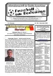 14. Jahrgang Nr. 158 – November 2002 Benjamin Gaus als ... - SBFV