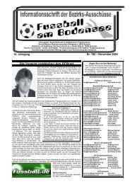 16. Jahrgang Nr. 182 – November 2004 - SBFV