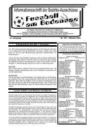 16. Jahrgang Nr. 181 – Oktober 2004 - SBFV