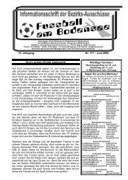 15. Jahrgang Nr. 177 – Juni 2004 Wichtige Termine ! - SBFV