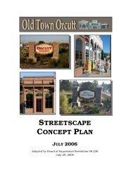 STREETSCAPE CONCEPT PLAN - Long Range Planning Division