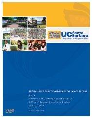 UCSB Recirculated Draft Environmental Impact Report