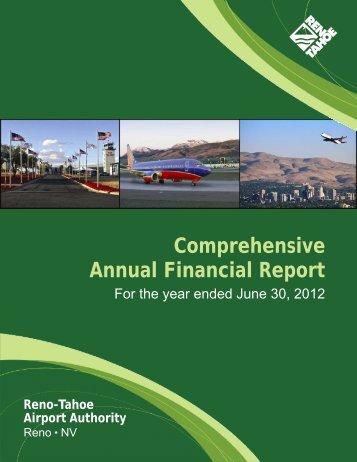 2012 Financial Report - Reno-Tahoe International Airport