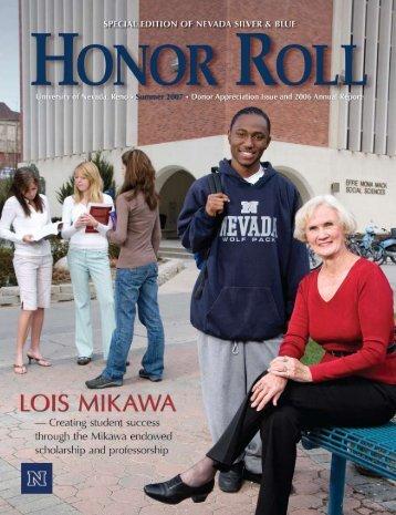 Honor Roll 2007 - University of Nevada, Reno