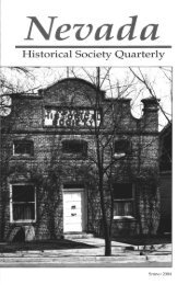 Historical Society Quarterly - Nevada State Library and Archives ...