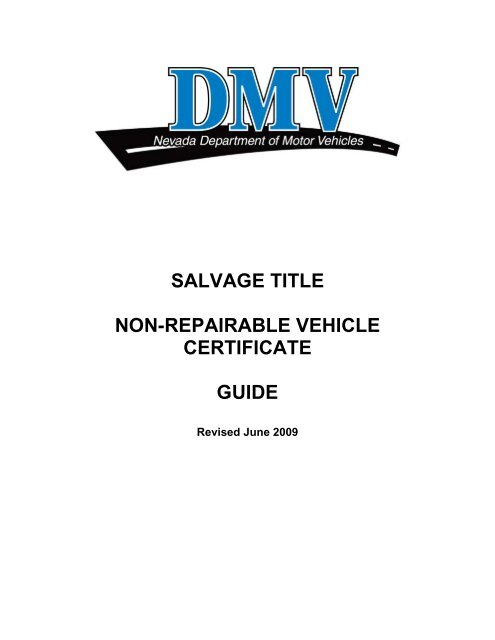 Nevada DMV Salvage Title and Non-Repairable Vehicle Guide