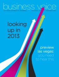 deceMBeR 2012 - Las Vegas Chamber of Commerce