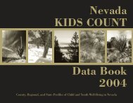 Data are reported - Nevada KIDS COUNT - University of Nevada ...