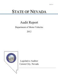 la12-11 state of nevada - Nevada Legislature