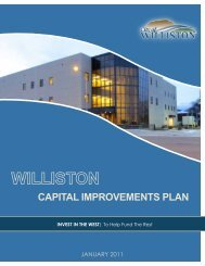 cAPITAL IMPROVEMENTS PLAN - City of Williston