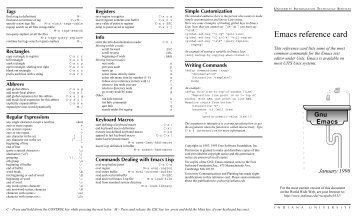 GNU Emacs Reference Card