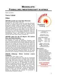 MEDIENLISTE: FUßBALLWELTMEISTERSCHAFT IN ... - Sende-Zeit