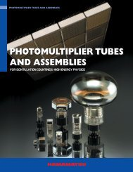 PHOTOMULTIPLIER TUBES AND ASSEMBLIES ...