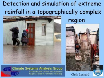 Detection and simulation of extreme rainfall in a topographically ...