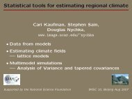 Statistical tools for estimating regional climate