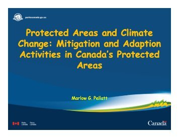 Protected Areas and Climate Change: Mitigation and Adaption ...