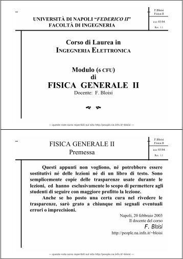 Corso di Fisica Generale II - INFN Napoli