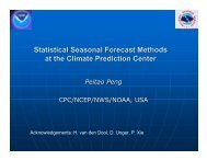 Statistical Seasonal Forecast Methods at the Climate Prediction Center