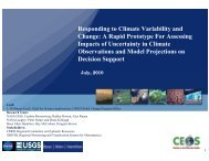 Responding to Climate Variability and Responding to Climate ...