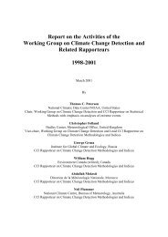 Report on the Activities of the Working Group on Climate Change ...