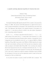 A quantile matching adjustment algorithm for Gaussian data series ...