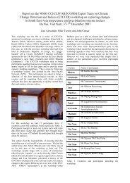 workshop on exploring changes in - CLIVAR