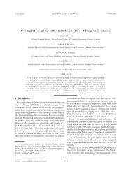 Avoiding Inhomogeneity in Percentile-Based Indices of Temperature ...