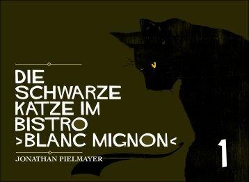 Die schwarze Katze im Bistro blanc mignon‹ - lockervomhocker