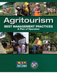 Agritourism Best Management Practices & Plan of Operation