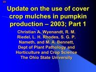Update on the use of cover crop mulches in pumpkin production ...