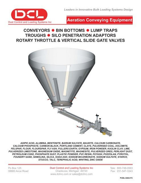 Aeration Conveying Equipment - Air Process Systems