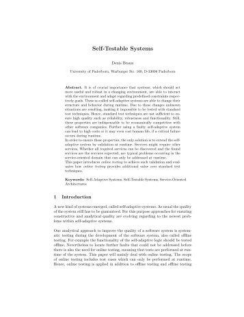 Self-Testable Systems