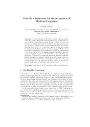 Towards a Framework for the Integration of Modeling Languages