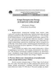 Grupa Energetyczna Energa na krajowym rynku energii - Rocznik ...