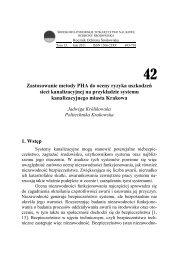 Zastosowanie metody PHA do oceny ryzyka uszkodzeń sieci ...