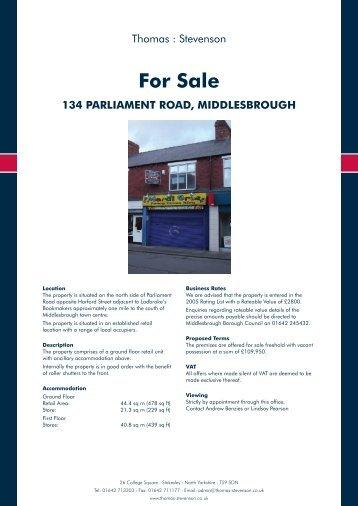 For Sale - Thomas : Stevenson