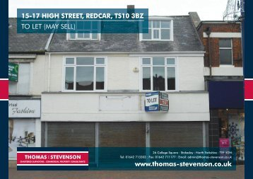 15-17 HIGH STREET, REDCAR, TS10 3BZ TO LET (MAY SELL ...